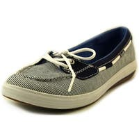 Keds Glimmer Boat Women  Moc Toe Canvas Blue Boat Shoe