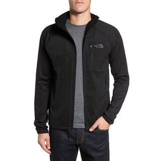 The North Face NEW Black Men Size Large L Hooded Front Zip Fleece Jacket