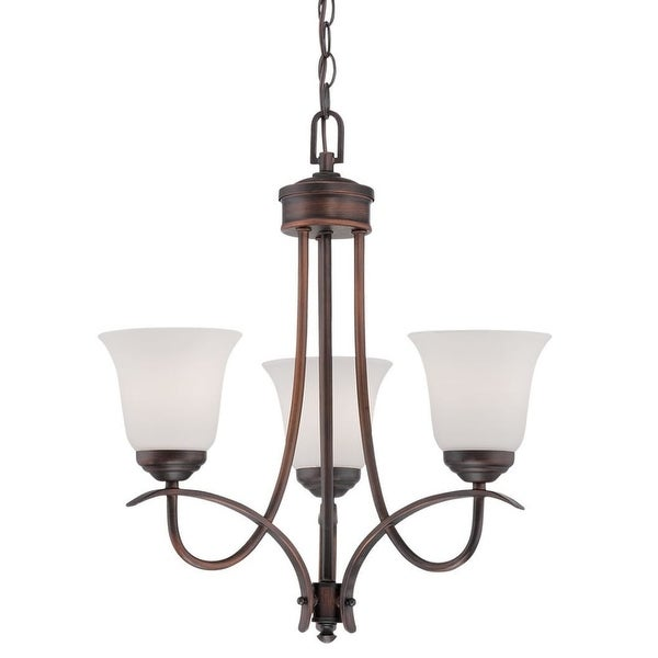 Millennium Lighting 3003 Kingsport 3 Light 1 Tier Mini Chandelier - Rubbed bronze