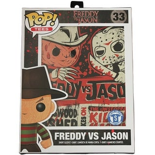 Funko POP Horror Tees Freddy vs Jason Adult T-Shirt