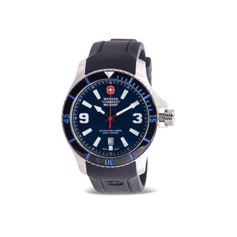 Wenger Swiss Military Sea Force Silicone Mens Watch 01.9041.216C