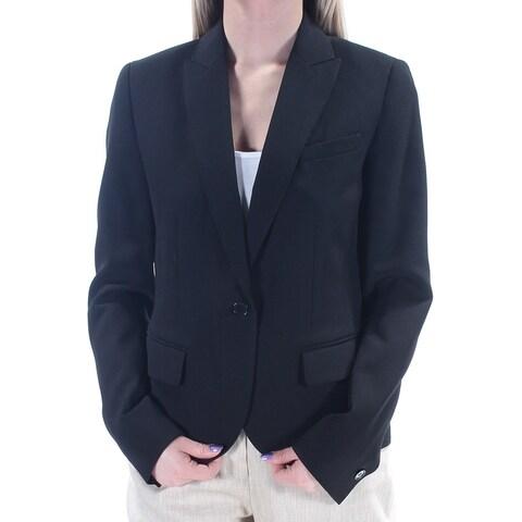ANNE KLEIN Womens Black Blazer Wear To Work Jacket Size: 2