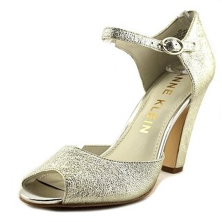 Anne Klein Womens Henrika Leather Peep Toe Ankle Strap D-orsay Pumps
