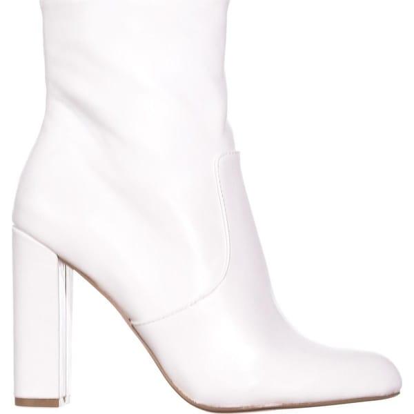 steve madden black and white boots