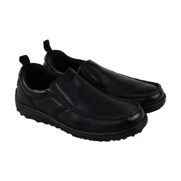 Hush Puppies Belfast Mens Black Leather Casual Dress Loafers Shoes