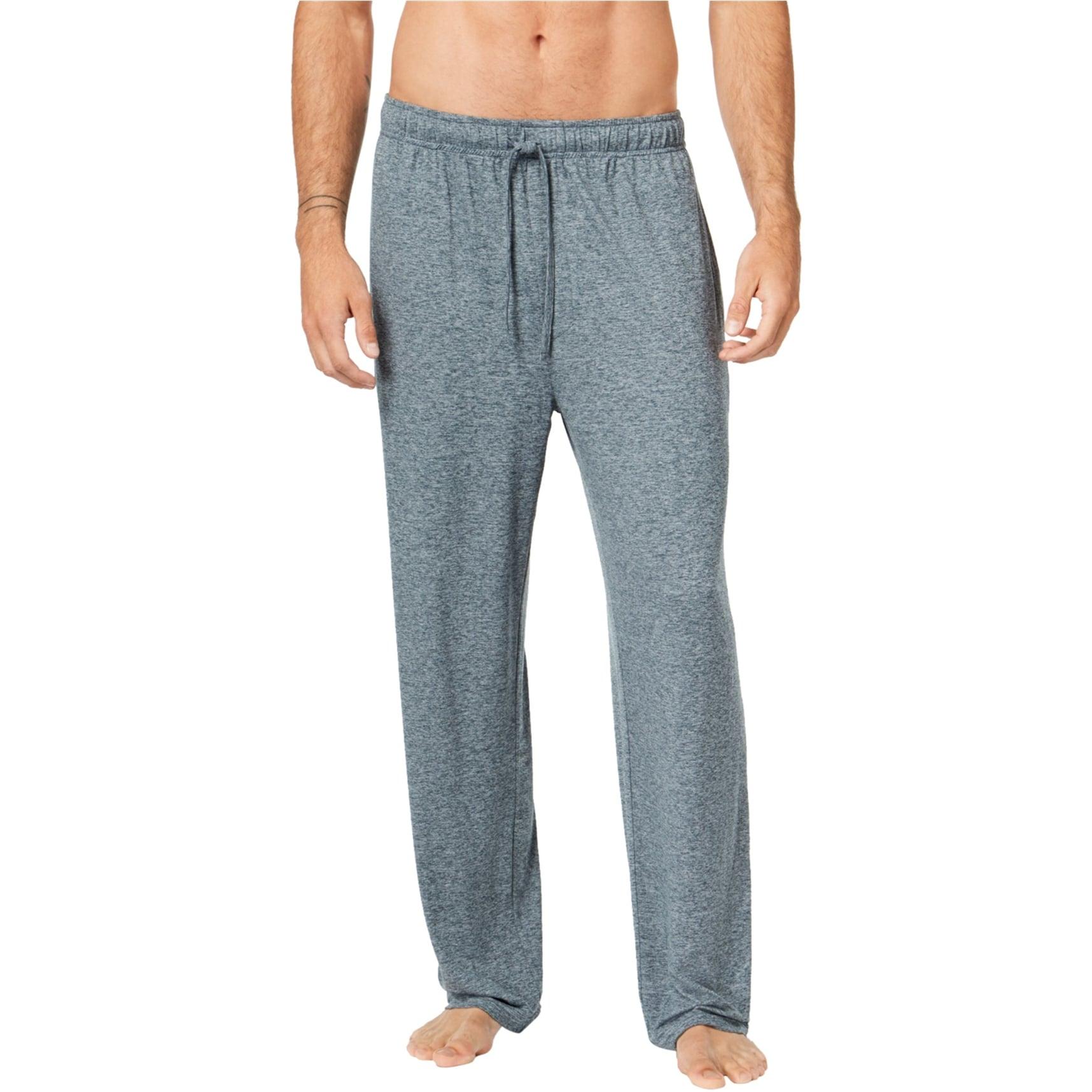 NEW Mens Lounge Pants Size Large Joggers Pajamas Sleepwear Pockets PJs Gray