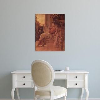 Easy Art Prints Gustav Klimt's 'Sappho' Premium Canvas Art
