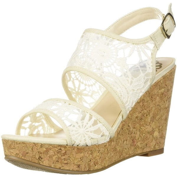 Fergalicious Women's Krazy Wedge Sandal, Cream, Size 12.0 - 12