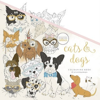 "KaiserColour Perfect Bound Coloring Book 9.75""X9.75""-Cats & Dogs"