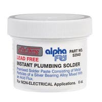 Alpha 52945 Lead-Free Non Electrical Instant Plumbing Solder, 6 Oz