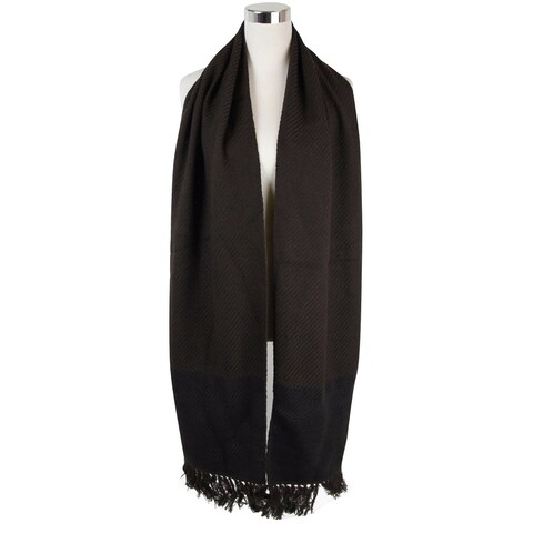 "Bottega Veneta Women's Dark Brown Cashmere Leather Long Scarf 298569 2060 - 82"" L x 13"" W"