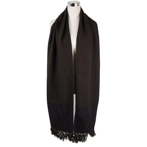 "Bottega Veneta Women's Dark Brown Cashmere Leather Long Scarf 298569 2060 - 82"" L x 13"" W"