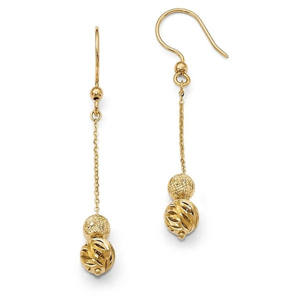 Italian 14k Gold Fancy Dangle Earrings