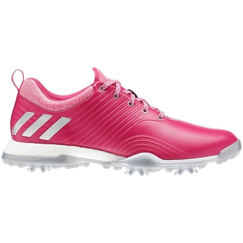 New Adidas Women's Adipower 40RGED Magenta/Silver Met/White Golf Shoes DA9746
