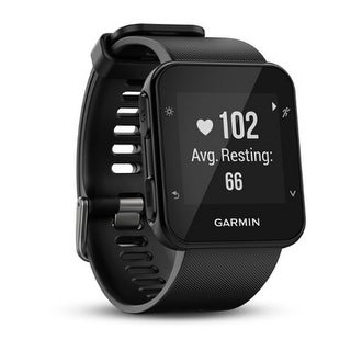 Refurbished Garmin Forerunner 35 Black GPS Running Watch with Wrist-based Heart Rate