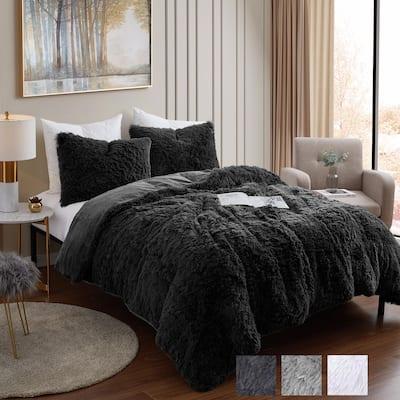 Long Plush Shaggy Comforter Set