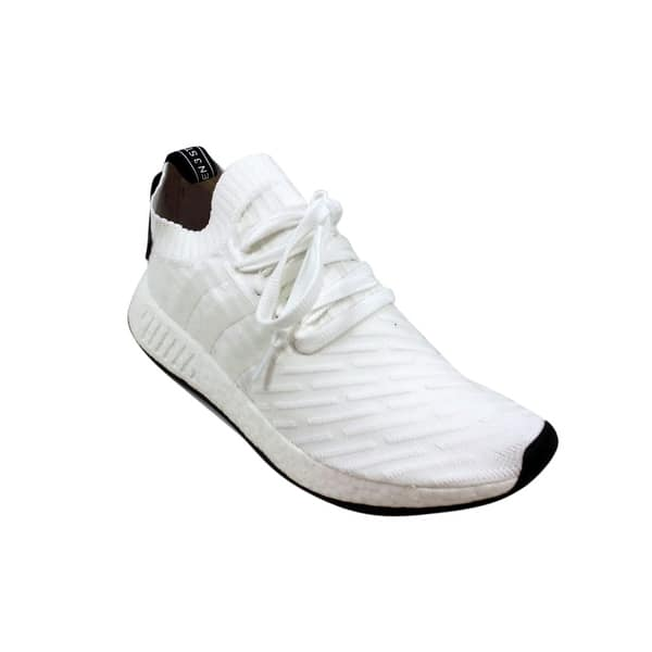 Shop Adidas Men S Nmd R2 Primeknit White Black By3015 Overstock