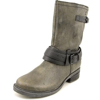 OTBT Caswell Women Round Toe Leather Gray Mid Calf Boot