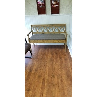 Copper Grove Watchorn Storage Bench with Seat Cushion