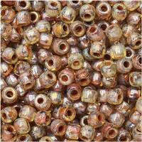 Czech Glass Matubo, 8/0 Seed Bead, 8 Gram Tube, Crystal Picasso
