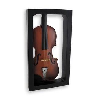 Classical Violin Shadow Box Wall Plaque