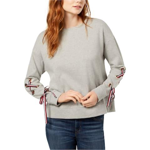 Tommy Hilfiger Womens Lace-Up Sweatshirt
