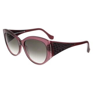 Balenciaga BA0023 81B Purple Oval Sunglasses