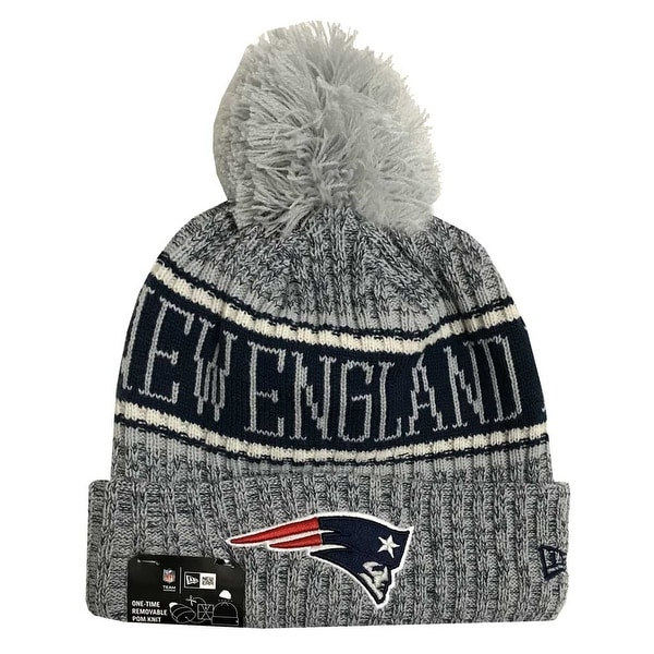 New Era 2018 NFL New England Patriots Reverse Sport Stocking Knit Hat Beanie f42cb805d