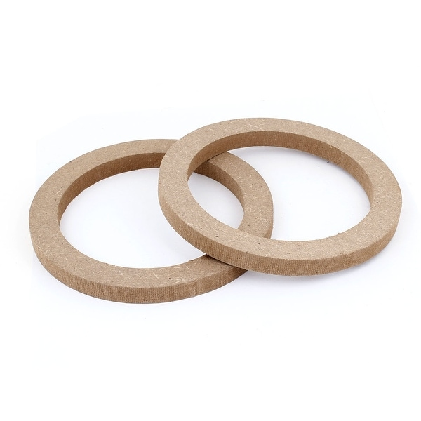 "Unique Bargains 2 Pcs Universal Wooden 6.5"" Speaker Spacers Replacement for Car Auto Truck"