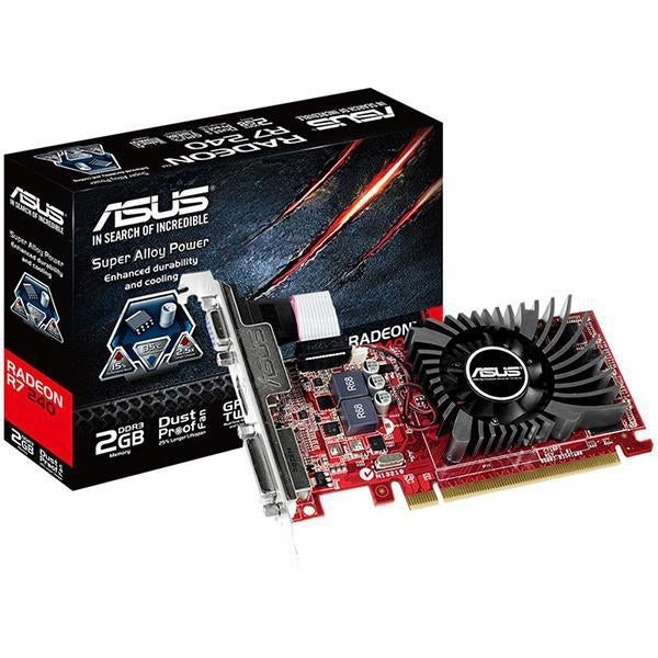 Asus Radeon R7 240 Directx 11 2 R7240-2Gd3-L 2Gb 128-Bit Ddr3 Pci Express  3 0 Hdcp Ready Low Profile Video Card