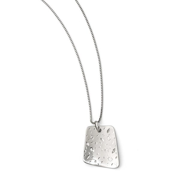 Sterling Silver Radiant Essence Diamond-cut Pendant. Pendant ONLY, Chain sold separately.
