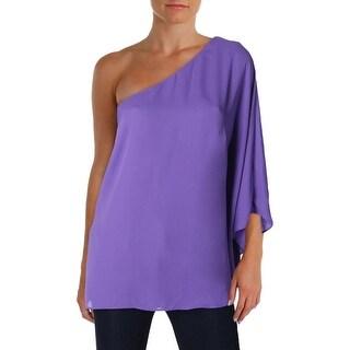 Lauren Ralph Lauren Womens Blouse One Shoulder Ruffled