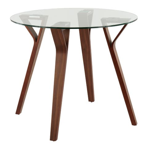 Carson Carrington Sala Mid-Century Modern Round Dinette Table