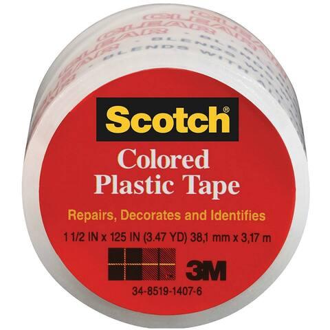 "Scotch 191CL Transparent Plastic Tape, 1-1/2"" x 125"""