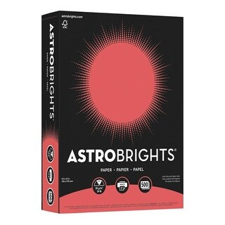 8.5 x 11 in. Astrobrights Premium Color Paper, Rocket Red - 24
