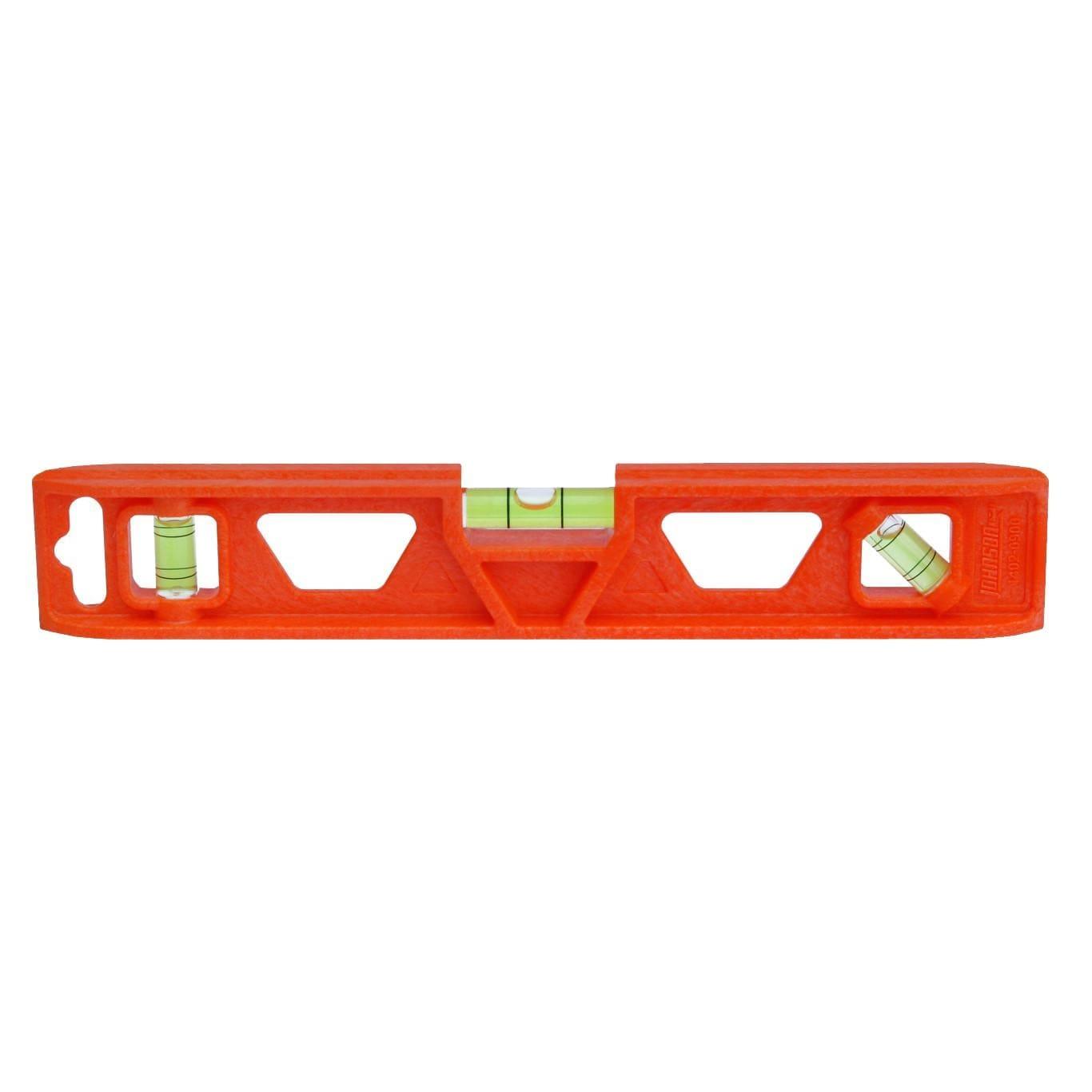 Johnson Level 1402-0900 Orange Structo-Cast Torpedo Level, 9, 3-Vial