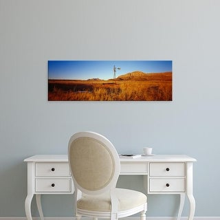 Easy Art Prints Panoramic Images's 'Solitary windmill in a field, U.S. Route 89, Utah, USA' Premium Canvas Art