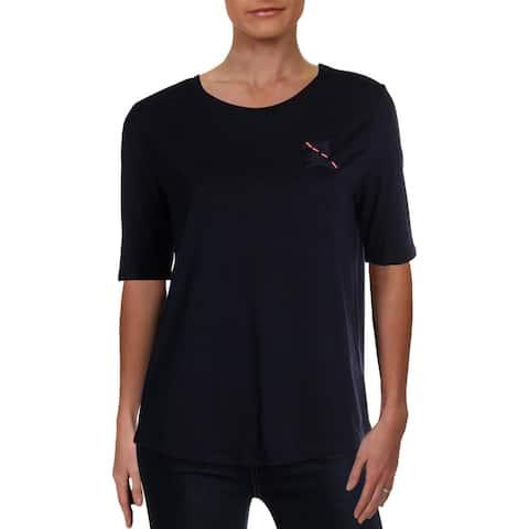 Lauren Ralph Lauren Womens T-Shirt Logo Crew Neck - M