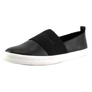 Calvin Klein Mora Women  Round Toe Leather Black Loafer