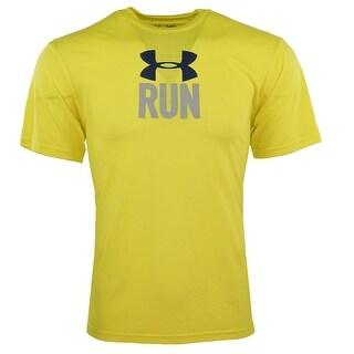 Under Armour Men's Heatgear Passing On The Left T-Shirt - yellow/grey/navy