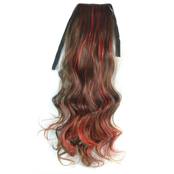 Shop Curled Horsetail Highlights Gradient Ramp Wig Light Brown With