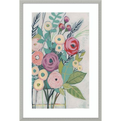 Soft Spring Bouquet I (Floral) by Grace Popp 26-inch x 38-inch Framed Wall Art Print