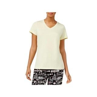 Hue Womens Sleep Tee V-Neck Short Sleeves