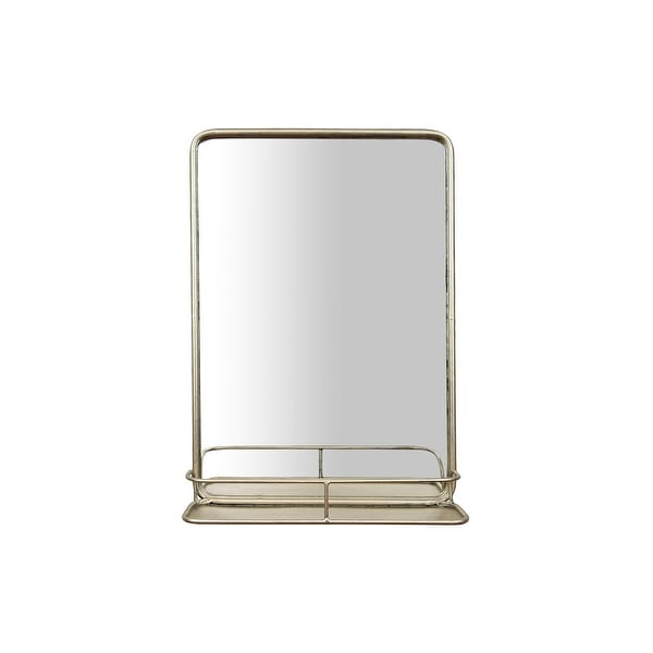 Rectangle Wall Mirror with Shelf - Antique Nickel. Opens flyout.