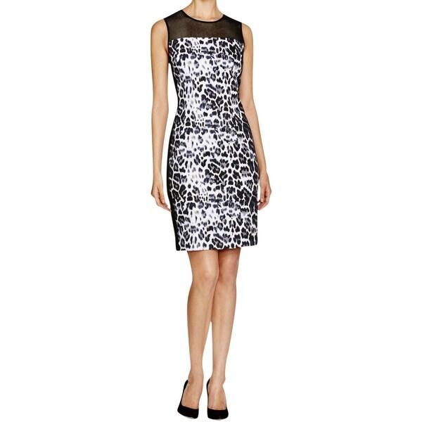 T Tahari Womens Dakota Wear to Work Dress Printed Sleeveless