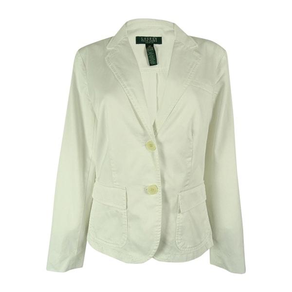 Ralph Lauren Women's 2-Button Cotton Twill Blazer