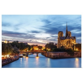"""""""Notre Dame  and Seine river"""" Poster Print"""