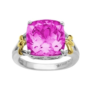 9 1/2 ct Pink Sapphire Ring in 10K Gold and Sterling Silver