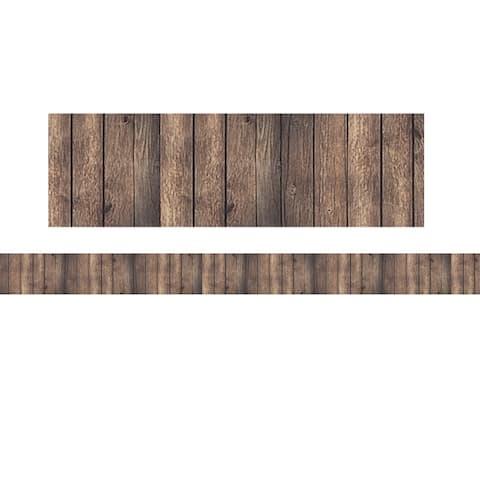 Dark Wood Straight Rolled Border Trim, 50' - One Size