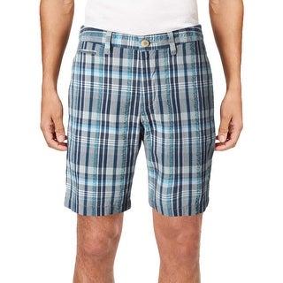 Tommy Bahama Mens Milos Madras Casual Shorts Plaid Flat Front - 30